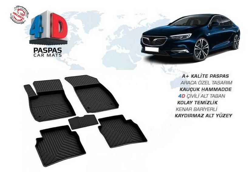 4D Paspas - Opel İnsignia Grand Sport 4D Havuzlu Paspas Siyah 2017 ve Sonrası