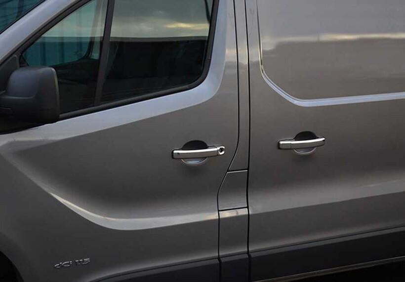 Krom Aksesuar » Omsa - Opel Vivaro 3 Krom Kapı Kolu 4 Kapı Tek Delik 2014-2019 Arası