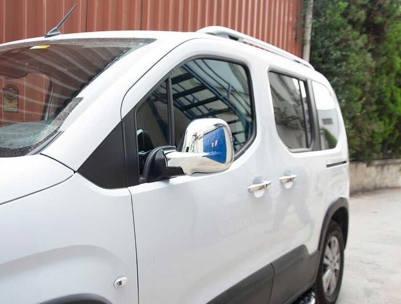 Krom Aksesuar » Omsa - Peugeot Partner 3 Krom Ayna Kapağı 2 Parça Abs 2019 ve Sonrası
