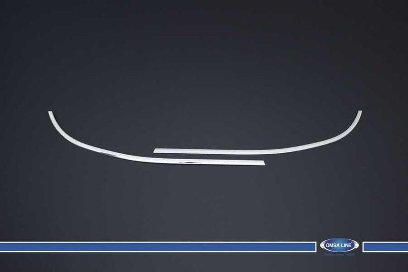 Krom Aksesuar » Omsa - Peugeot Partner Krom Tepee Cam Çıtası 2 Parça 2008-2018 Arası