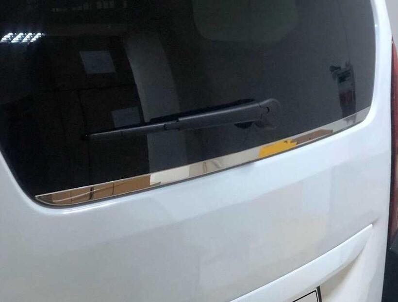 Krom Aksesuar » Omsa - Peugeot Rifter Krom Bagaj Camı Alt Çıtası 2019 ve Sonrası