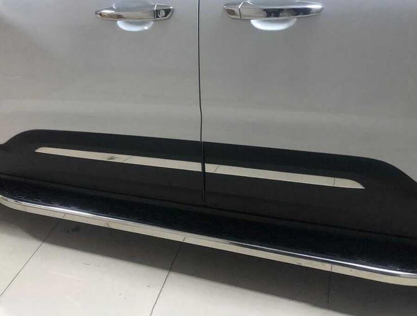 Krom Aksesuar » Omsa - Peugeot Rifter Krom Yan Kapı Çıtası 4 Parça 2019 ve Sonrası