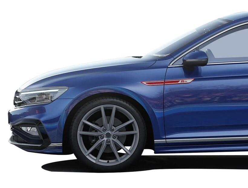 Krom Aksesuar » Omsa - VW Passat B8.5 R-line Krom Çamurluk Çıtası Kırmızı 4 Parça ABS 2019 ve Sonrası