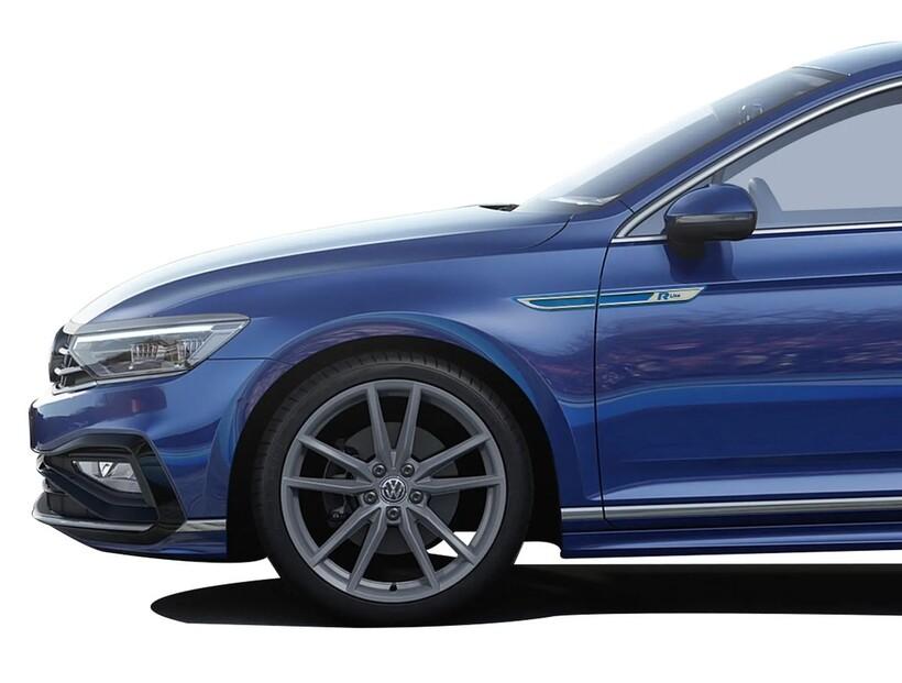 Krom Aksesuar » Omsa - VW Passat B8.5 R-line Krom Çamurluk Çıtası Mavi 4 Parça ABS 2019 ve Sonrası