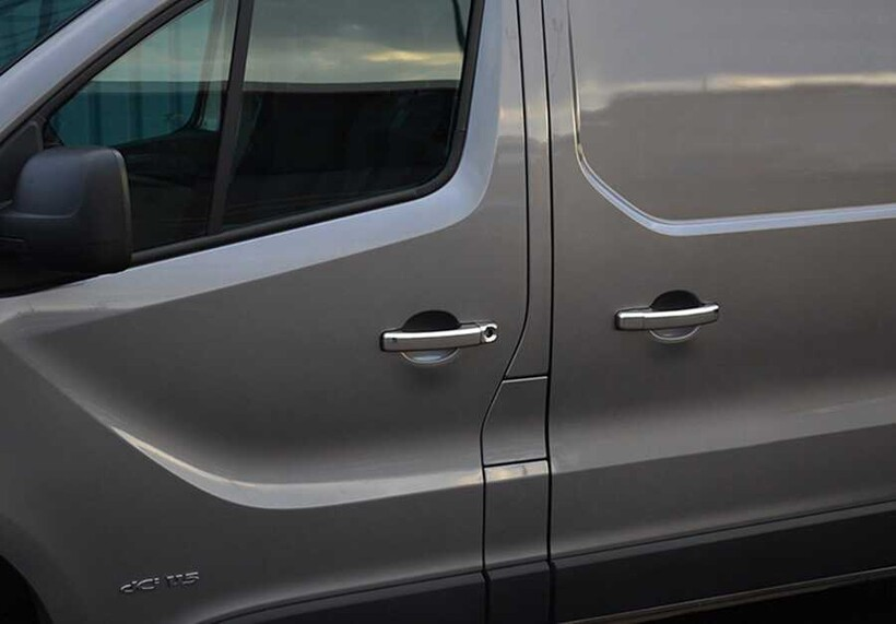 Krom Aksesuar » Omsa - Renault Master Krom Kapı Kolu 4 Kapı Tek Delik 2010 ve Sonrası