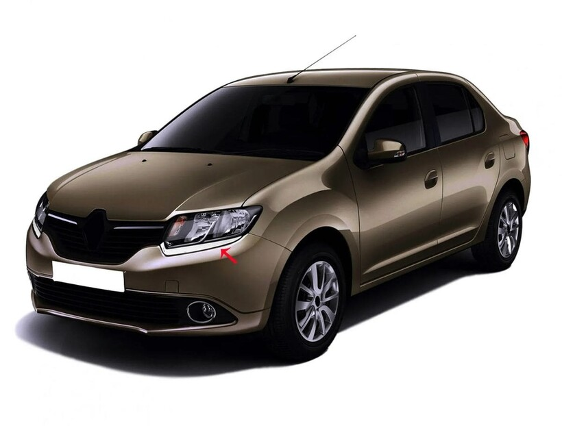 Krom Aksesuar » Omsa - Renault Symbol 3 Krom Far Kaşı 2 Parça 2013-2017 Arası