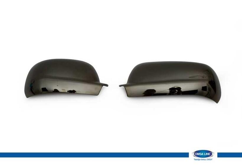 Krom Aksesuar » Omsa - Seat Cordoba 2 Siyah Krom Ayna Kapağı 2 Parça ABS 1999-2002 Arası