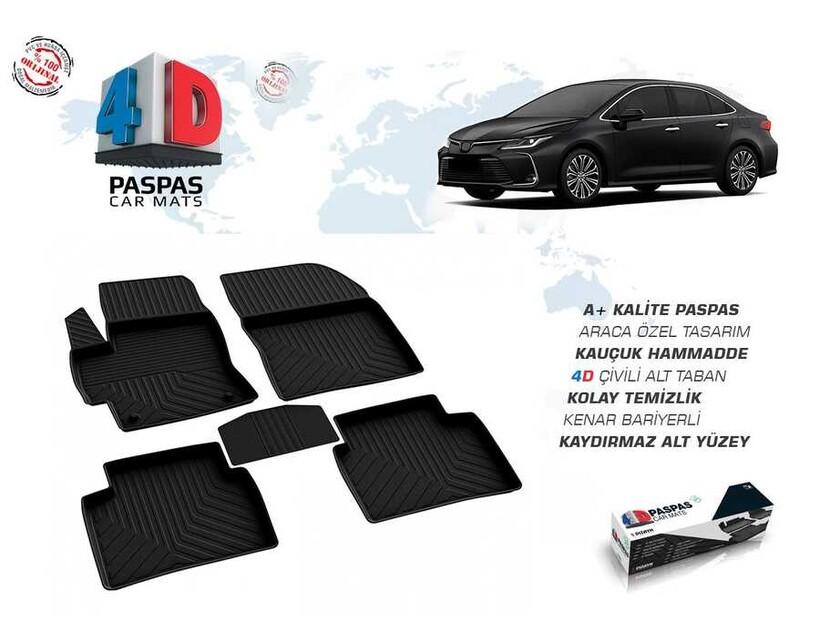 4D Paspas - Toyota Corolla 4D Havuzlu Paspas 2019 ve Sonrası