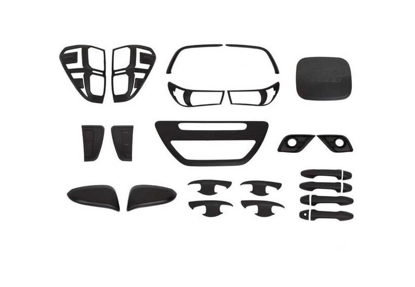 Krom Aksesuar » Omsa - Toyota Hilux Siyah Krom 10'lu Set ABS 2015-2020 Arası
