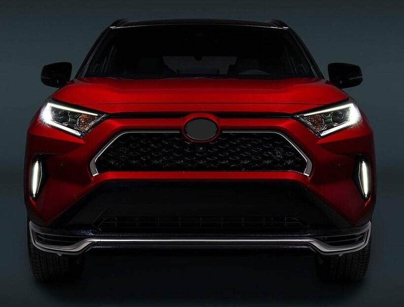Krom Aksesuar » Omsa - Toyota Rav4 5 Krom Ön Panjur Çerçevesi 2 Parça 2018 ve Sonrası