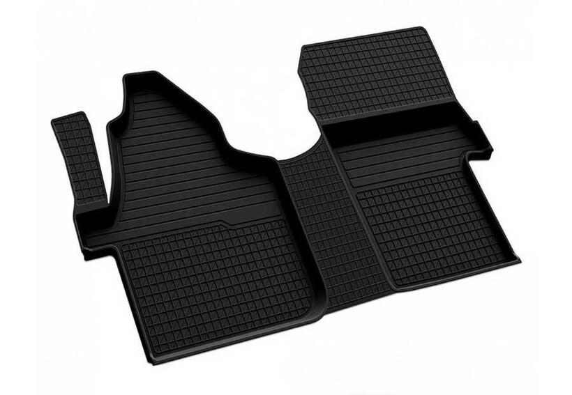 4D Paspas - VW Crafter 4D Havuzlu Paspas Siyah Ön Çift Koltuk 2006-2017 Arası