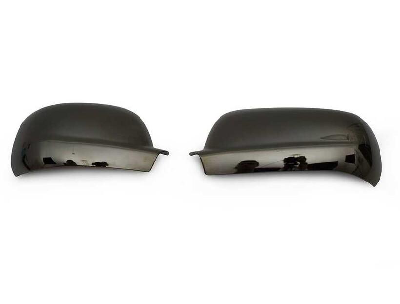 Krom Aksesuar » Omsa - VW Golf 4 Siyah Krom Ayna Kapağı 2 Parça Abs 1998-2004 Arası