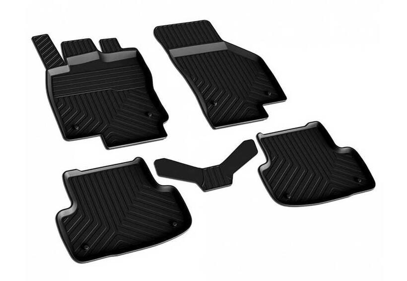 4D Paspas - VW Golf 7 4D Havuzlu Paspas Siyah 2012 ve Sonrası