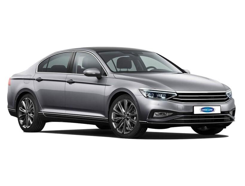 Krom Aksesuar » Omsa - VW Passat B8.5 Krom Cam Çerçevesi 8 Parça 2019 Sonrası