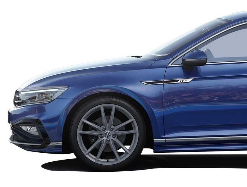 Krom Aksesuar » Omsa - VW Passat B8.5 R Line Krom Çamurluk Çıtası 2019 ve Sonrası