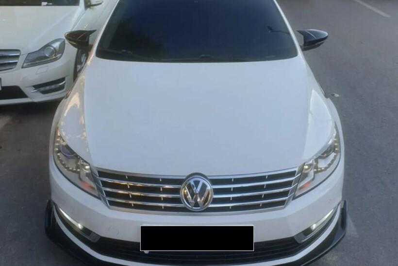 Body Kit » Plastik - VW Passat CC Yarasa Ayna Kapağı Batman Piano Siyah Abs 2008-2017 Arası
