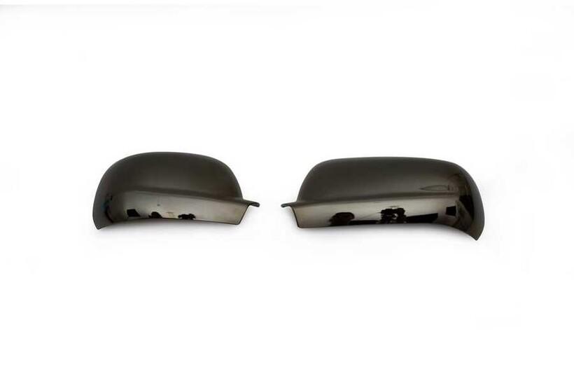 Krom Aksesuar » Omsa - VW Polo 6N Siyah Krom Ayna Kapağı 2 Parça Abs 1997-2002 Arası