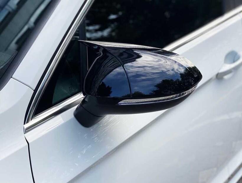 Body Kit » Plastik - VW Scirocco Yarasa Ayna Kapağı Batman Piano Siyah Abs 2008-2017 Arası