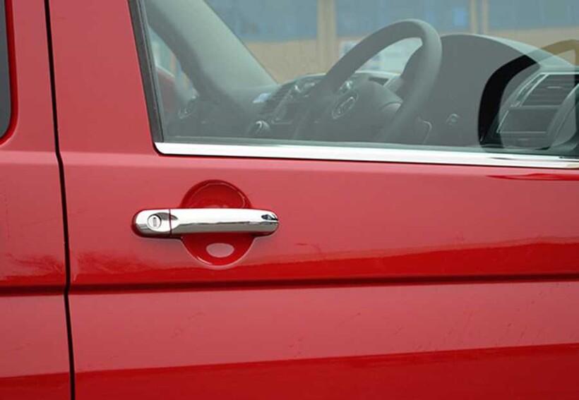 Krom Aksesuar » Omsa - VW T5 Caravelle Krom Kapı Kolu 4 Parça Tek Delikli 2003 ve Sonrası