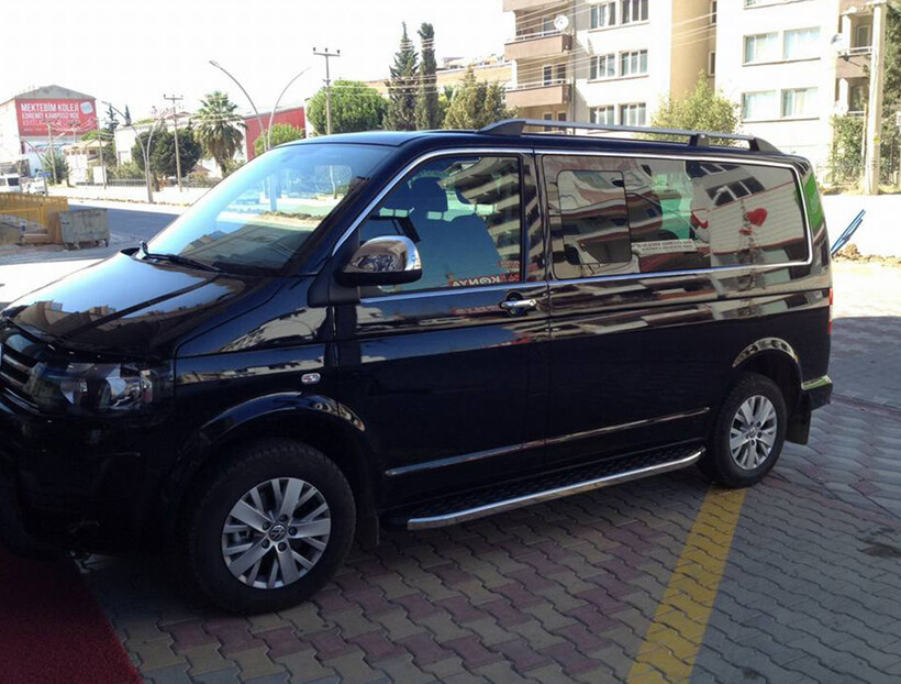 Krom Aksesuar » Omsa - VW T6.1 Caravelle Krom Cam Çerçevesi 14 Parça Tek Sürgü Uzun Şase 2020 ve Sonrası