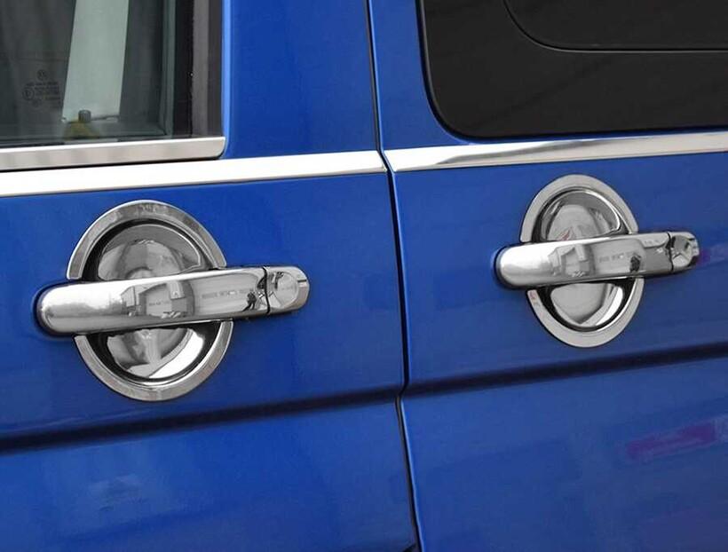 Krom Aksesuar » Omsa - VW T6.1 Transporter Krom Kapı Kolu Tası 4 Kapı 2020 ve Sonrası
